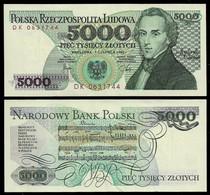 POLAND BANKNOTE - 5000 ZLOTYCH 1982 P#150a AUNC (NT#04) - Poland