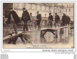 (   Dep  75  )     PARIS      Crue De La Seine     Porte D´Ivry  Ref    E.0219 - La Crecida Del Sena De 1910