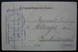Sennelager Camp De Prisonniers 1915  Regnault Raymond Carte Pour Artonges Aisne Par Montmirail Marne - Oorlog 1914-18