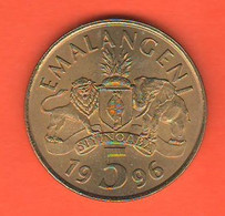 Swaziland 5 Emalangeni 1996 Brass Coin - Swaziland