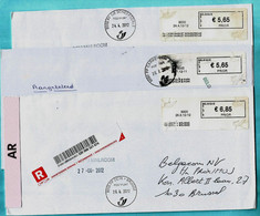 8 BLASTERS PP : Postpunten (2009-2013), 8000 BRUGGE Op Aangetekende Zending - Postage Labels