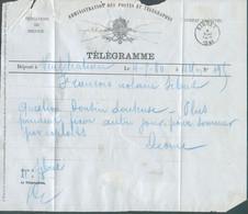 Télégramme Déposé à Neufchateau 4-5-1880 Pour SIBRET.TB - 17651 - Telegraph