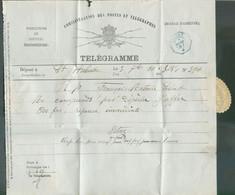 Télégramme Déposé à Saint-Hubert 3-9-1887 Pour SIBRET(cachet Télégraphique Bleu).TB - 17652 - Telegraph