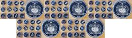 Samoa - 5 Pcs X Set 12 Coins X 1 Sene 2020 UNC Lemberg-Zp - Samoa