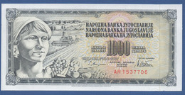 YUGOSLAVIA - P.92b– 1.000 Dinara 1978 - UNC-  Prefix AR - Jugoslavia