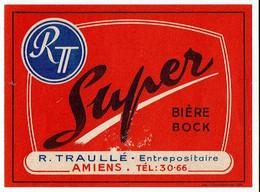Ancienne étiquette Entrepôt Traullé à Amiens 80 - Bier