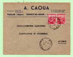 """Lettre à ENTETE : """"A. CAOUA""""  VIALAR Alger - 20/3/45 - - Lettres & Documents"""