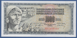 YUGOSLAVIA - P.86 – 1.000 Dinara 1974 - UNC  Prefix AB - Jugoslavia