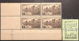 D - [825844]TB//**/Mnh-France 1942 - N° 501cu, Bd4 Cdf Daté 10.12.42, Griffe + Tache Dans Les Valeurs '2' - Castelli