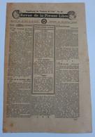 Document De Propagande Allié Revue De La Presse Libre WW2 - 1939-45