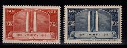 YV 316 & 317 N* Vimy Cote 28 Euros - Nuevos