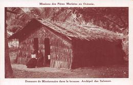 Missions Des Pères Maristes En Océanie - Archipel Des SALOMON - Demeure De Missionnaire Dans La Brousse - Solomon Islands