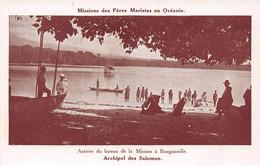 Missions Des Pères Maristes En Océanie - Archipel Des SALOMON - Arrivée Du Bateau De La Mission à Bougainville - Solomon Islands