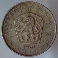 REPUBBLICA SOCIALISTA CECOSLOVACCA 5 Korun  1981      SPL - Czechoslovakia