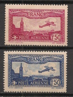 France - 1930 - Poste Aérienne PA N°Yv. 5 Et 6 - Avion Survolant Marseille - Neuf Luxe ** / MNH / Postfrisch - 1927-1959 Postfris