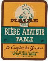 Ancienne étiquette Brasserie Le Comptoir Des Boissons à Vitry-sur-seine 94 - Bier