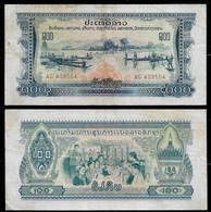 LAOS BANKNOTE - 100 KIP (1968) P#23a VF (NT#04) - Laos