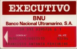 PORTUGAL - Banco Nacional Ultramarino - Executivo - Credit Cards (Exp. Date Min. 10 Years)