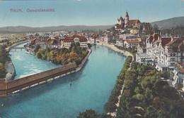 2104) THUN - Generalansicht  Häuser Fluss Us. W Brücken ALT 1912 - BE Berne