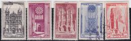France    .   Y&T    .     663/667     .       O    .     Oblitéré    .     /   .   Cancelled - Oblitérés