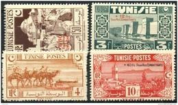 Tunisie (1945) N 269 à 272 * (charniere) - Unused Stamps