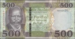 TWN - SOUTH SUDAN 16 - 500 Pounds 2018 Prefix AB UNC - South Sudan