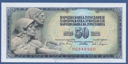 YUGOSLAVIA - P.83b – 50 Dinara 1968 - UNC  Prefix HG - Yugoslavia