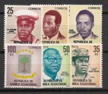Guinée  équatoriale - 1980 - N°Mi. 1613 à 1618 - Héros Nationaux - Neuf Luxe ** / MNH / Postfrisch - Equatorial Guinea
