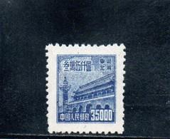 CHINE DU NORD-EST 1950-1 SANS GOMME - Chine Du Nord-Est 1946-48