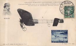 NANTES - Grande Semaine D'Aviation - L Aviateur MORANE Prend Son Vol ( Avec VIGNETTE Aout 1910  ) - Nantes