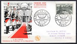 FDC FRANCE 1959 - N° 1192 - Palais De L'Elysée - 1950-1959