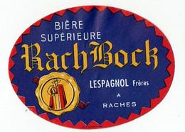 Ancienne étiquette Brasserie Lespagnol à Raches 59 - Beer