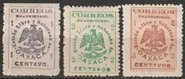 Mexico 1915 Sc 414-6  Partial Set MH* Disturbed Gum - Mexico