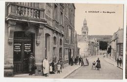 [51] Marne  Epernay-Rue Magenta-Devanture Magasin  COMMERCE Lucien Jost SCENE ANIMEE  NON CIRCULEE - Epernay
