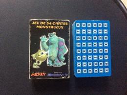JEU DE CARTES MONSTRUEUX  Monstres & Cie  LE JOURNAL DE MICKEY  Disney Pixar - 32 Cards