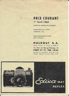 Catalogue EDIXA 1962 (Halbout S.A. - Paris) - Otros