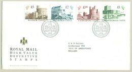 UK - 1988 - 9,5 Pound - High Value Definitive Stamps, Castles On FDC To Amersfoort / Nederland - 1981-1990 Dezimalausgaben
