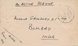 Nederlands Indië - 1946 - FPO 68 - Fieldpost Indian Army - On Active Service - Van Buitenzorg Naar Bombay / India - Netherlands Indies