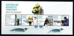 Australian Antarctic 2021 Arts Fellowship Minisheet MNH - Unused Stamps