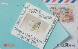 Télécarte JAPON / 110-011 - TIMBRE - STAMP With CAMEL On JAPAN Phonecard ** USA Rel **  - BRIEFMARKE - 172 - Francobolli & Monete