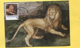 CM Albrecht Dürer Maximum Card Dürer Lion Leeuw Löwe - Incisioni