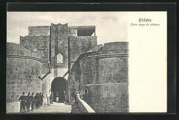 AK Rhodes, Porte Rouge Du Chateau - Grecia