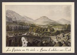 PM303/ Antoine Ignace MELLING, *Les Pyrénées Au XIXe, Bains D'Arles-sur-Tech*, Lithographie Anglaise - Schilderijen