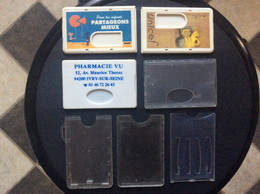 6 PORTE-BADGES/PORTE-CARTES  *Unicef Bnp *Pharmacie Vu *Divers - Supplies And Equipment