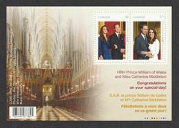 CANADA 2011 Royal Wedding (1st Issue): Miniature Sheet UM/MNH - Hojas Bloque