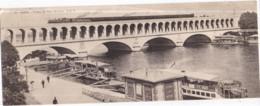 Dépt 75 - PARIS - Viaduc Du Point Du Jour - TRAIN, Métro, Coches D'eau - Carte Double C.L.C. Réédition FILDIER - Metro, Stations