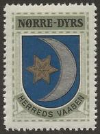 Danemark 1940-42 NØRRE-DYRS Vignette Cinderella From Jensen's Arms Series Fine NH - Otros