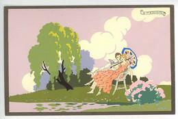 "PRIMAVERA D'AMORE ----  ""Ars Nova""  - G. MESCHINI --- (Dipinta A Mano) --- Carte Peinte --- Série N° 254 - Other Illustrators"