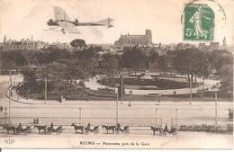 REIMS (51) Panorama Pris De La Gare En 1910  (Avion) - Reims