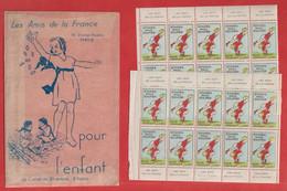 Intérieur De Carnet 20 Vignettes  + Pochette  Stades  Paul Doumer Pour L' Enfant Poulbot Les Amis De La France - Other